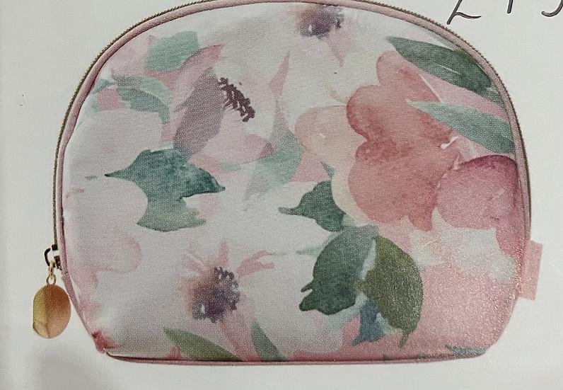 Small Oval Pink Fliral Beauty Purse