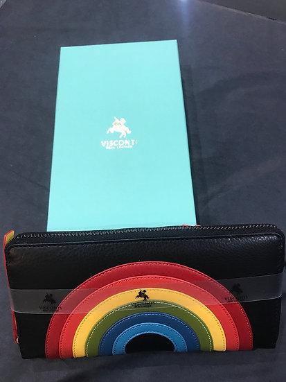 Rainbow Long Leather Purse (HR-82)