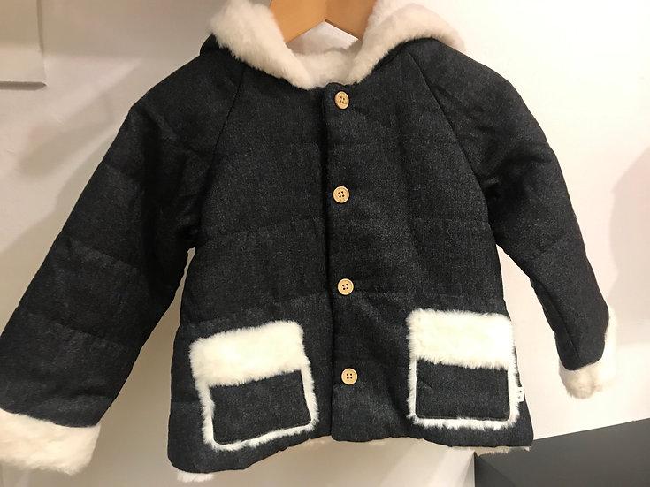 Fur-Lined Hooded Coat