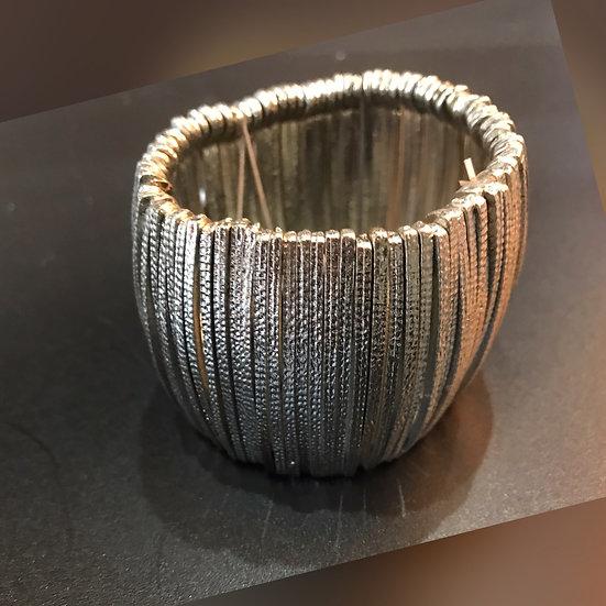 Deep, Elasticated Cuff Bracelet
