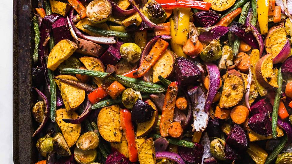 450 grams - Roasted Root Vegetables w/Pesto Aioli