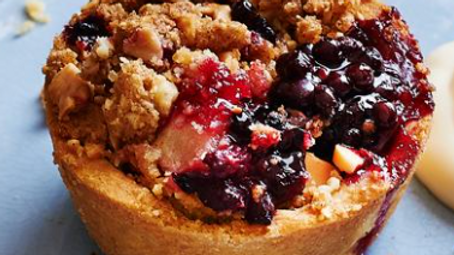 1/2 Dozen Individual Sized - Mixed Berry Crumble Pies