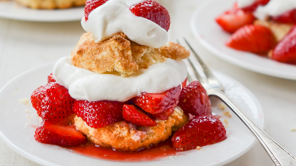 2 Servings of Strawberry Shortcakes