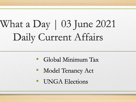What a Day | 03 June 2021 | Daily Current Affairs