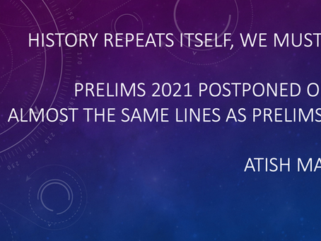 Prelims Postponed | What should you do?