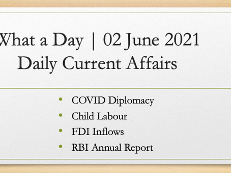 What a Day | 02 June 2021 | Daily Current Affairs