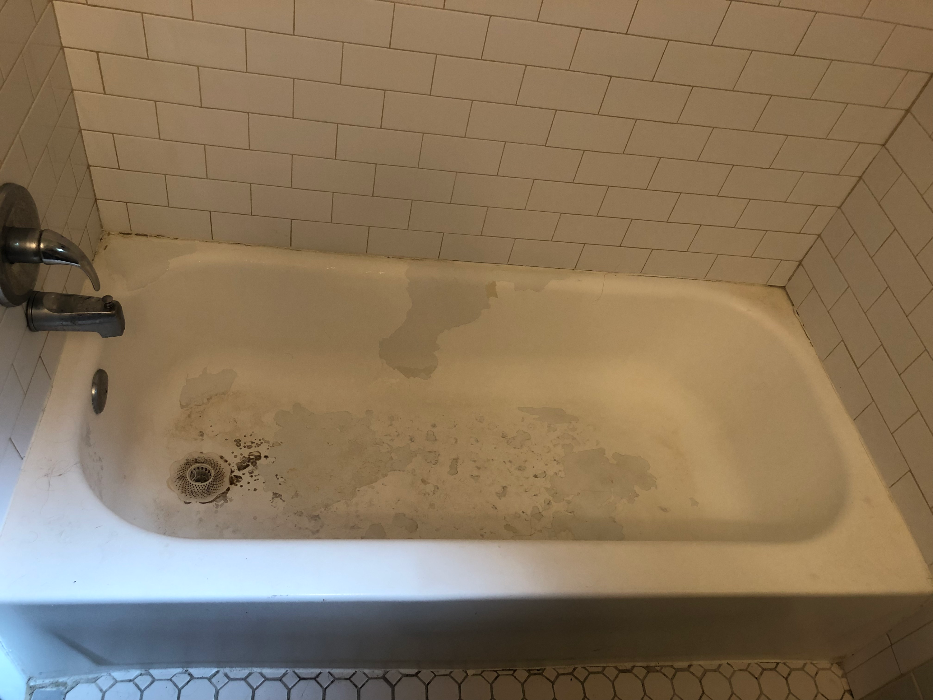 Damaged Bathtub