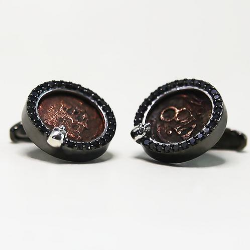 Black Rhodium Plated Silver, Black Diamonds   银镀铑金,黑钻