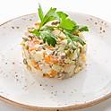 Салат Оливье с телятиной 120 гр