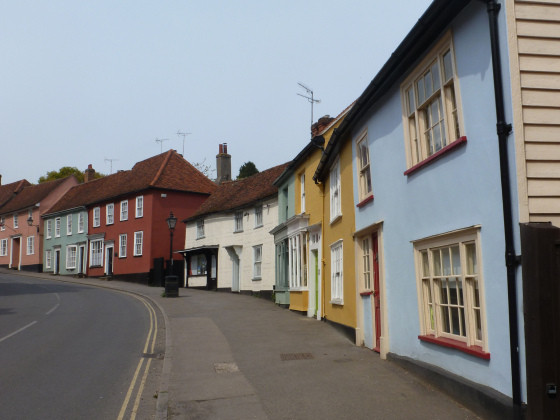 painted street front, Thaxted Essex