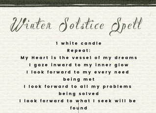 Winter Solstice Spell