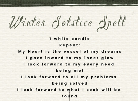 Winter Solstice Spell