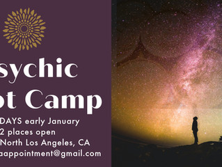 Two seats left for Psychic BootCamp