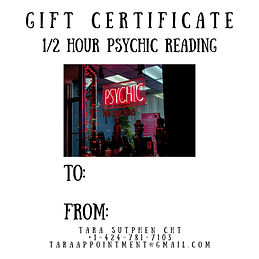 gift certificate 1_2 hour psychic readin