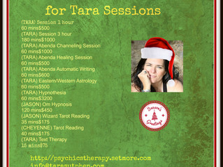 Gift Certificates for Tara Sessions