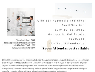 Clinical Hypnosis Certification on ZOOM