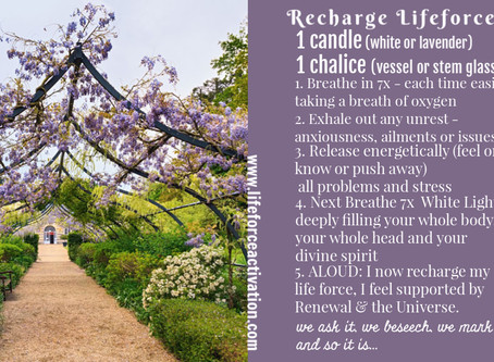 Recharge Lifeforce Spell