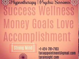 Hypnotherapy   Psychic Sessions taraappointment@Gmail.com 424-781-7103