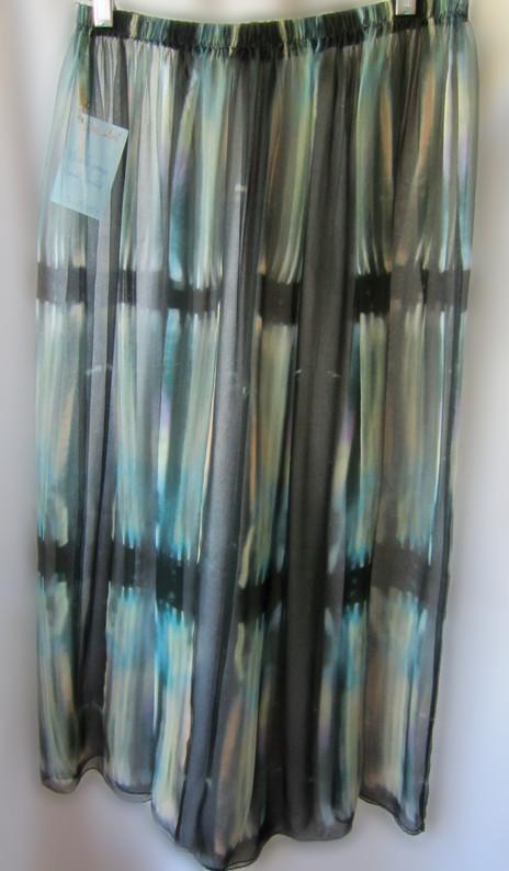 Hand Painted Silk Gauze Overskirt