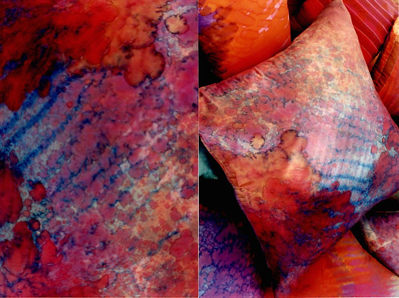 Hand Painted Silk Pillow