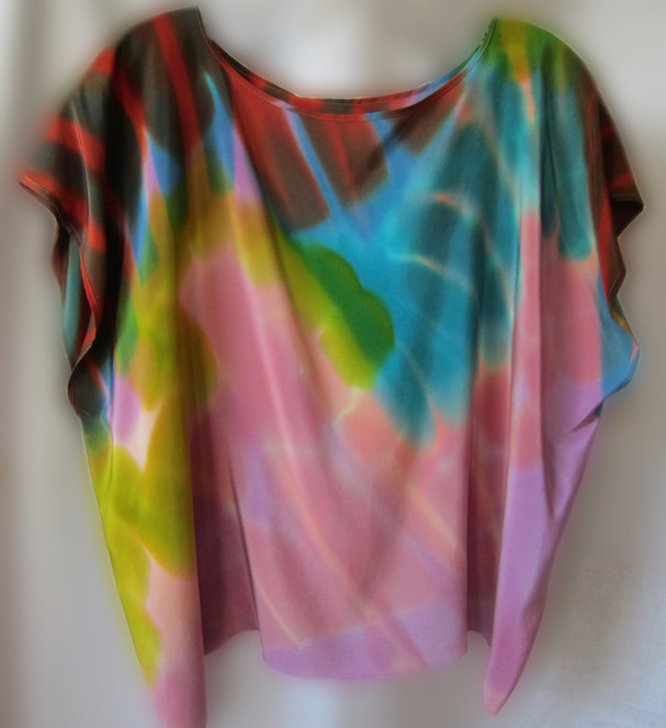 Hand Painted Crepe de Chine - Little Beauty Top