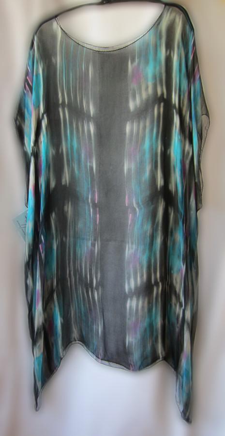 Hand Painted Silk Gauze Over Dress