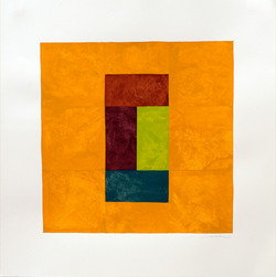 9BlockOrangeSurround_Lime22x22inchesGouacheonPaper.jpg