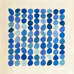 BlueMoments2020_42x42inches_Gouacheonpap