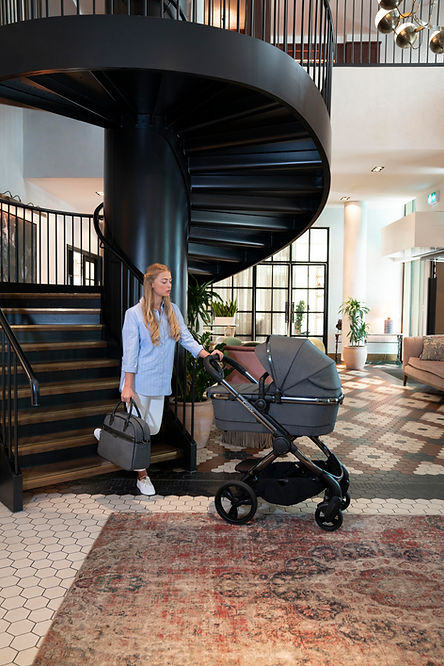 Peach-_CarryCot__Staircase_Lifestyle-jpg