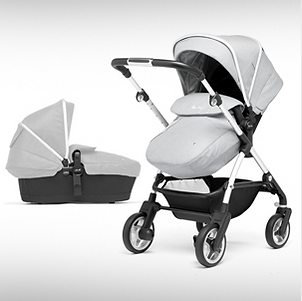 Pram and carrycot