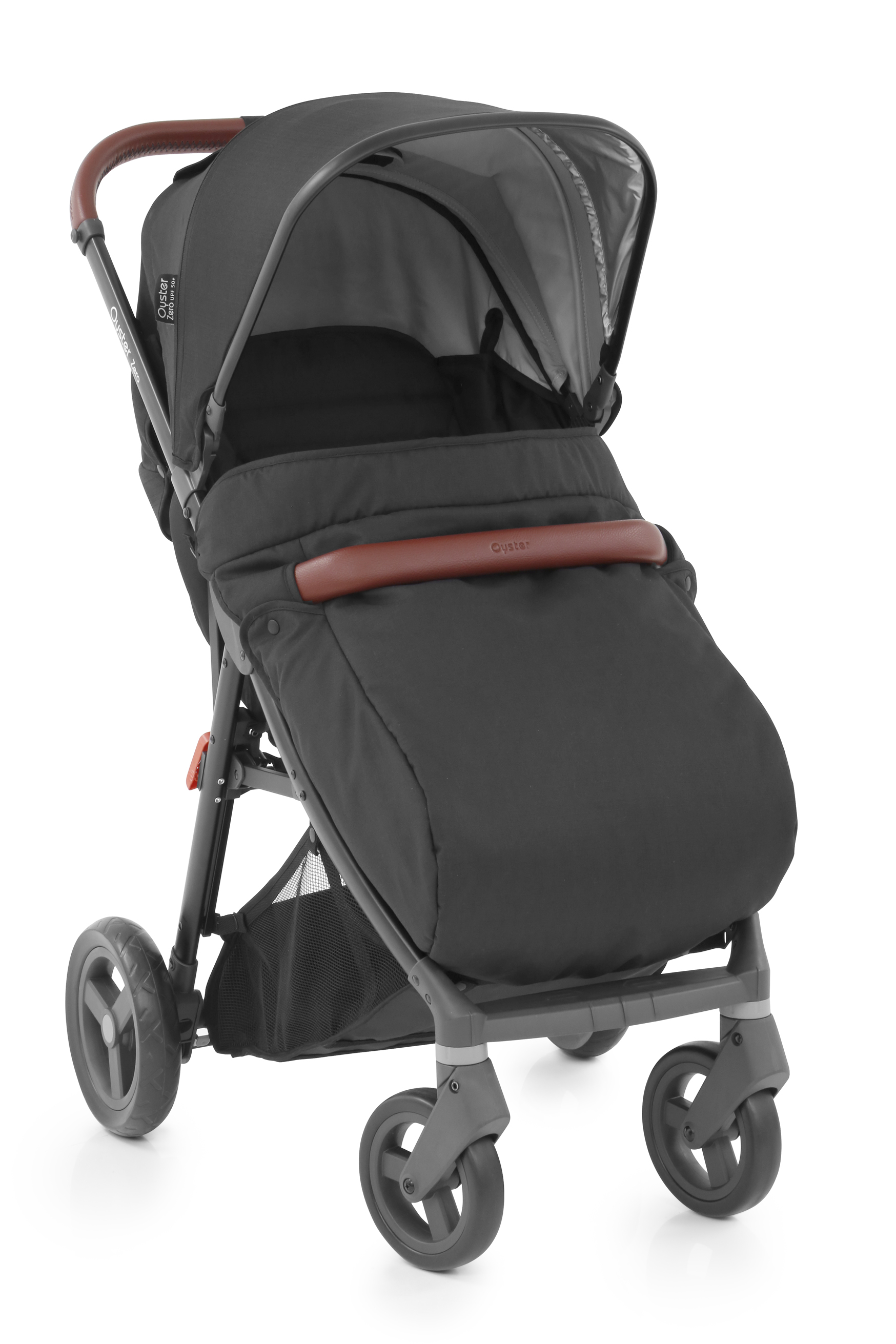 OysterZero_Stroller_withApron_Stealth