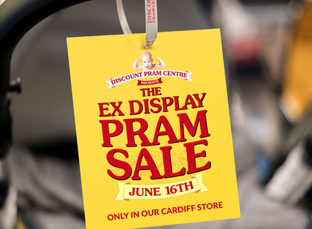 Ex-Display Pram Sale - June 16th - Cardiff Store