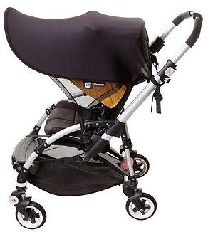 Pram with stroller shade