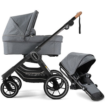 NXT90 Carrycot and Ergo Seat Lounge Grey
