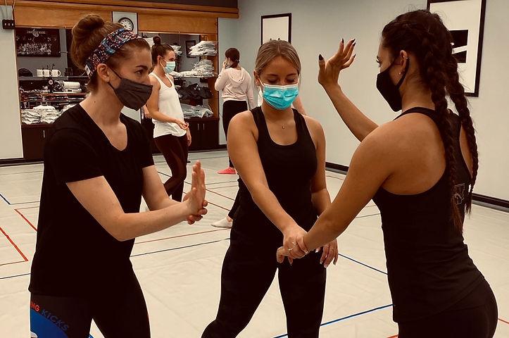 Women's Self Defense training at Lightning Kicks in Portage, MI