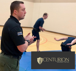 Centurion instructor working with police cadets