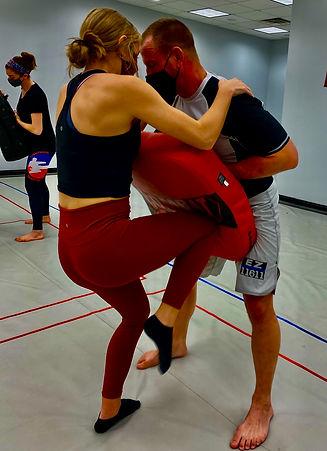 Women's Self Defense seminar at Lightning Kicks
