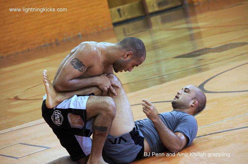 BJ Penn and Amir Khillah grappling
