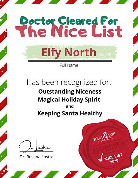 Nice List Certificate_Head2Toe Pediatric