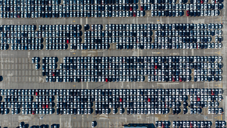 top-view-photo-of-cars-parked-on-automob