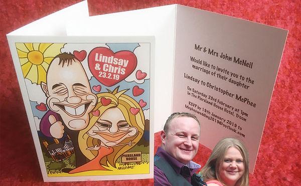 Caricature Wedding Invitatio