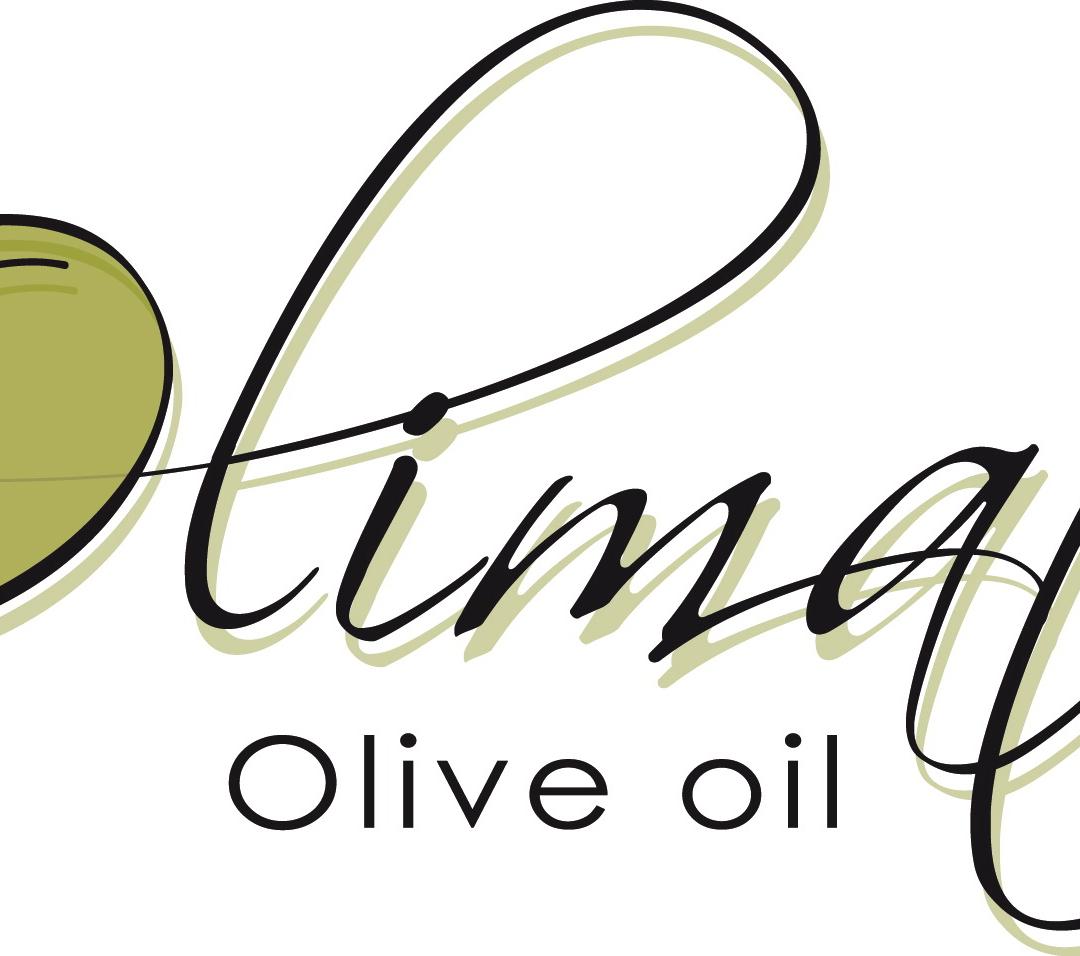 Het logo van Olimato, Griekse olijfolie extra virgin van uitzonderlijke kwaliteit.