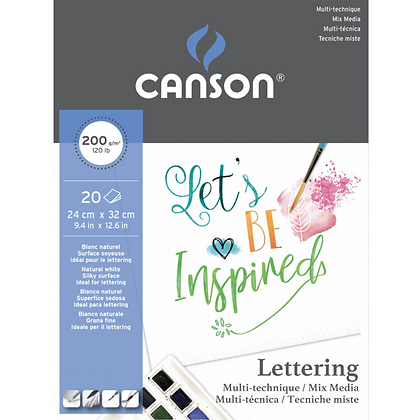 Bloco Canson® Lettering Mix media 200g 24 x 32 cm 20 Folhas
