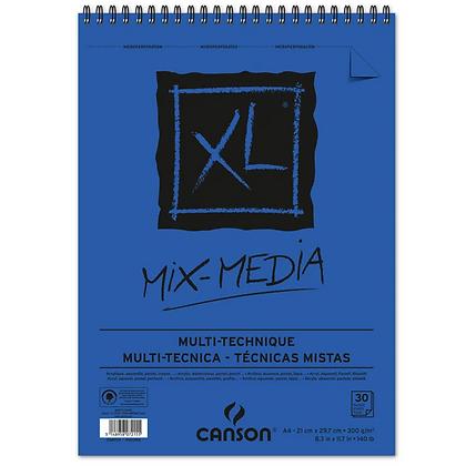 Bloco Espiralado Canson XL® Mix Media 300g/m² A4 21 x 29,7 cm com 30 Folhas