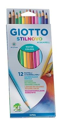 Lápis De Cor Aquarelável Giotto Stilnovo 12 cores