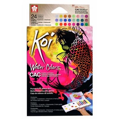 Aquarela Koi Water Colors Cac Sakura 24 cores