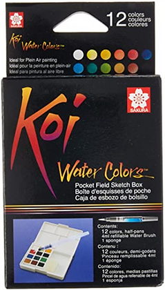 Aquarela Koi Water Colors Sakura 12 cores