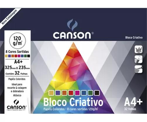 Bloco Criativo 120g 325x235mm c/8 cores 32 folhas Canson
