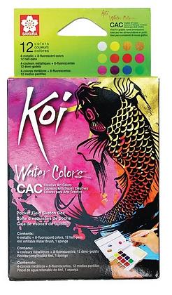 Aquarela Koi Water Colors Cac Sakura 12 cores