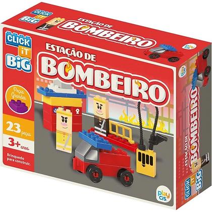 Bloco De Montar Big Estação De Bombeiro 23 Peças Cis